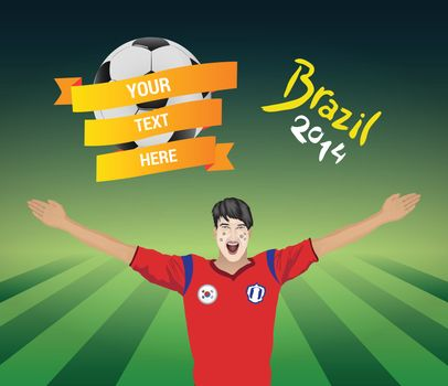 South korean football fan