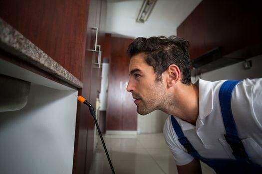 Manual worker concentration below sink