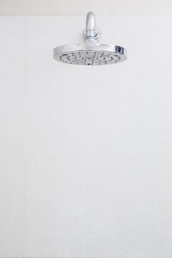 A Close-up of white shower