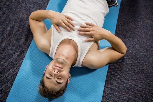 Man performing relaxation exercise