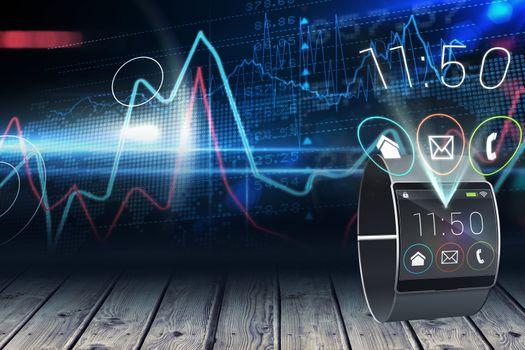 Smartwatch with digital background