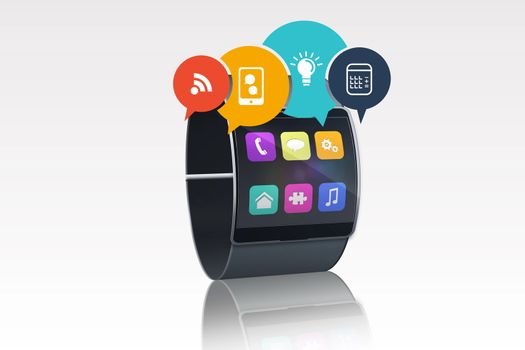 Smartwatch with app graphics