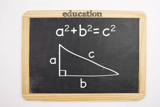 Trigonometry problem on chalkboard
