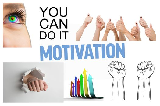 Collage of motivating pictures