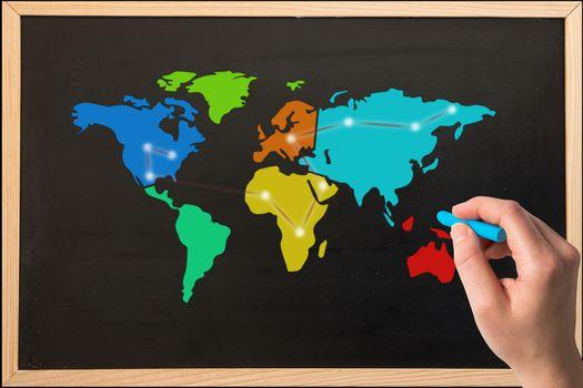 Map of world drawn