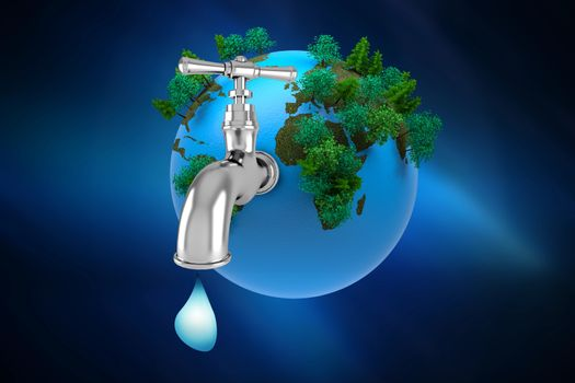 Earth with a tap