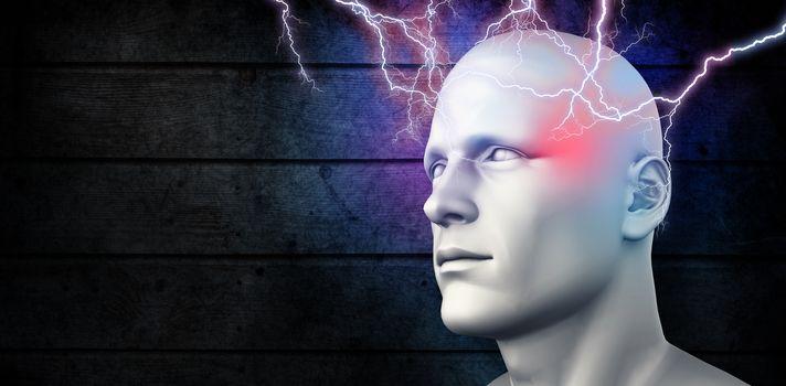 Composite image of lightning bolt