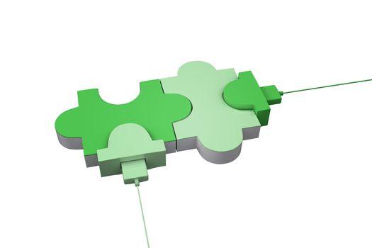Green usb jigsaw
