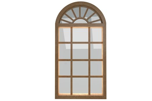 Digitally generated image of arch window