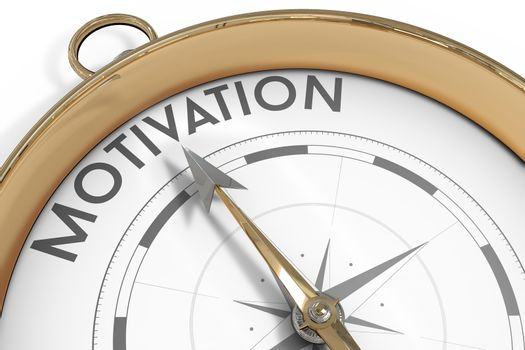 Compass pointing to motivation
