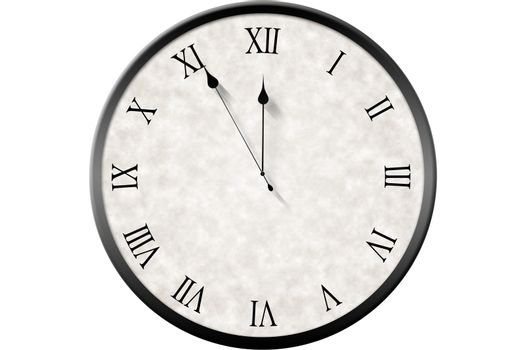 Roman numeral clock counting down