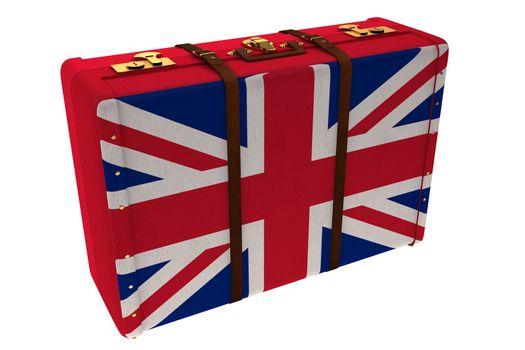 Great Britain flag suitcase