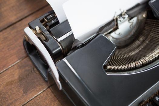 close up view of typewriter
