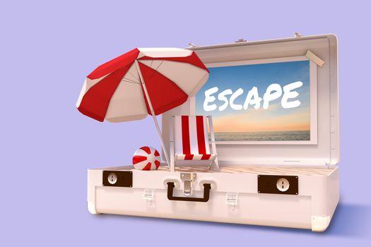 Composite image of escape