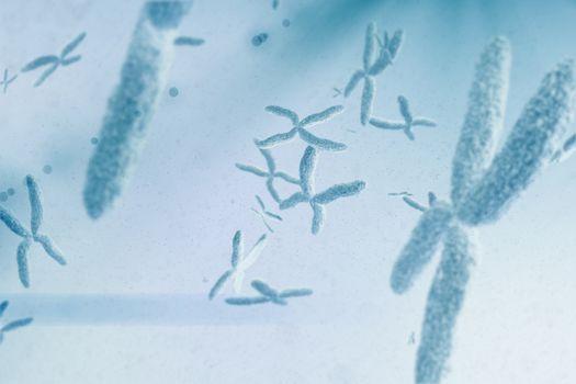 Composite image of view of a chromosome