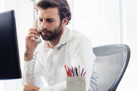 A man having a phone call