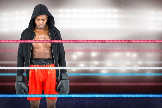 Portrait of athletic boxer