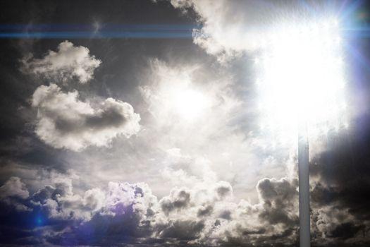 Spotlight in sky