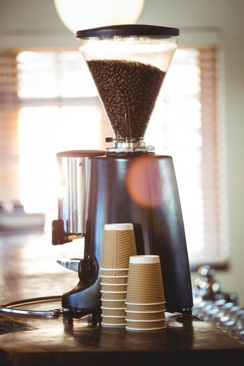 View of a coffee machine