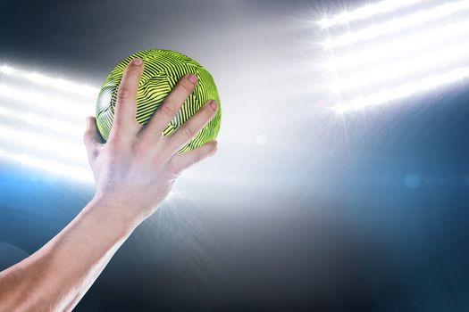Sportsman holding a ball