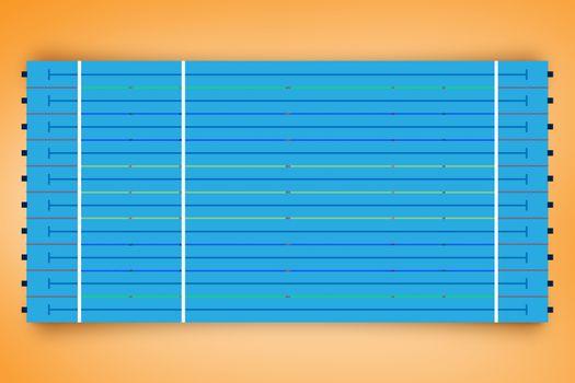 Coloured lines on a blue background