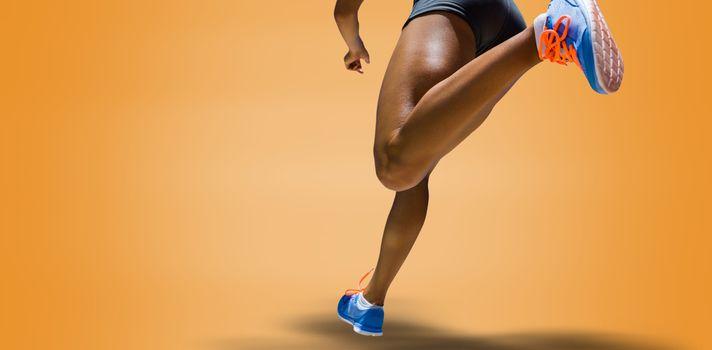 Sporty woman finishing her run