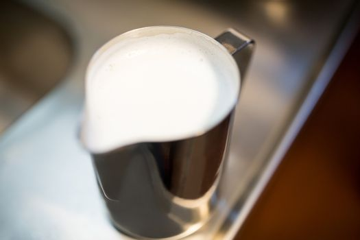 Close-Up of jug of milk