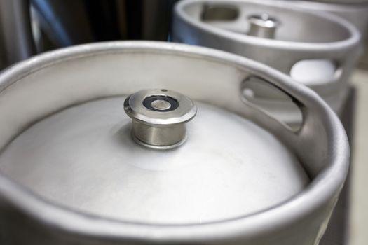 Close-up of keg