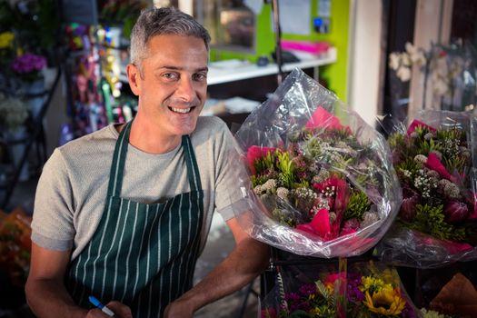 Portrait of male florist