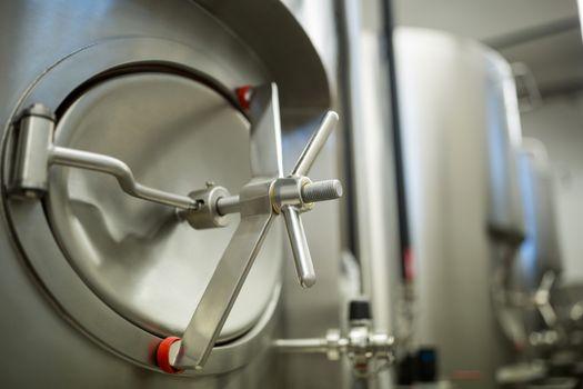 Close-up of fermentation tank