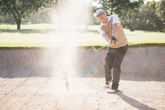 Sportsman playing golf