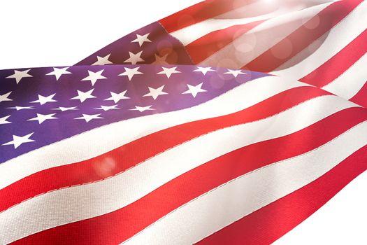 Waving flag of America