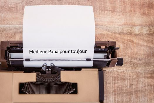 Meilleur papa pour toujours written on paper