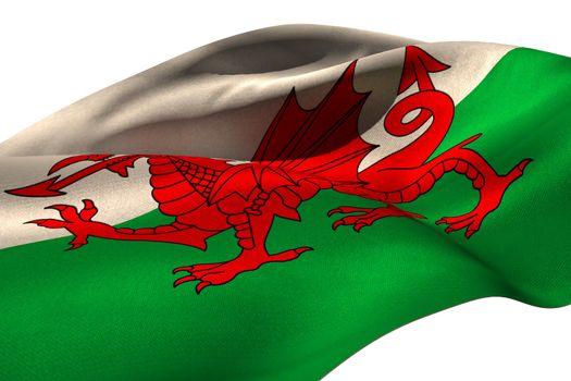 Waving flag of Wales