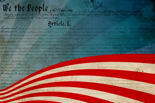 Composite image of declaration of independence