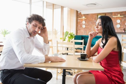 Couple upset with each other
