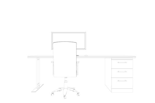 Draw of a desk