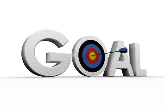 Digitally generated image of the word goal