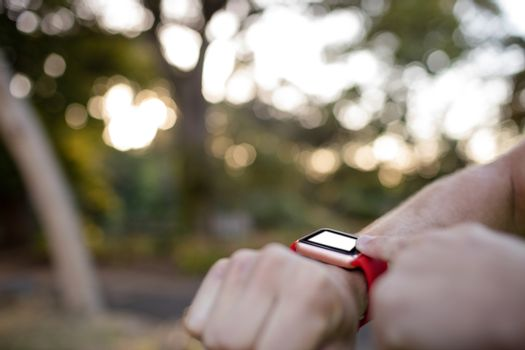 Hand setting a smartwatch