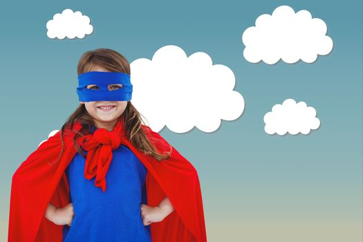 Girl dressed as superhero