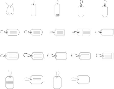 Various types of price tags