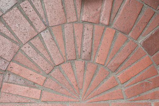 Red paving tile background