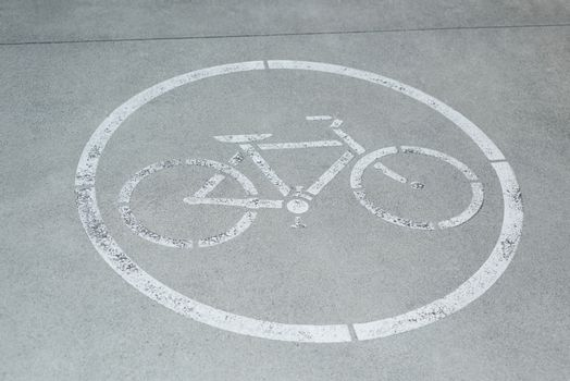 Cycle lane on road surface