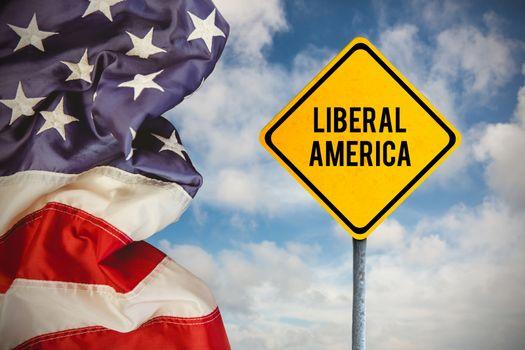 Composite image of liberal america