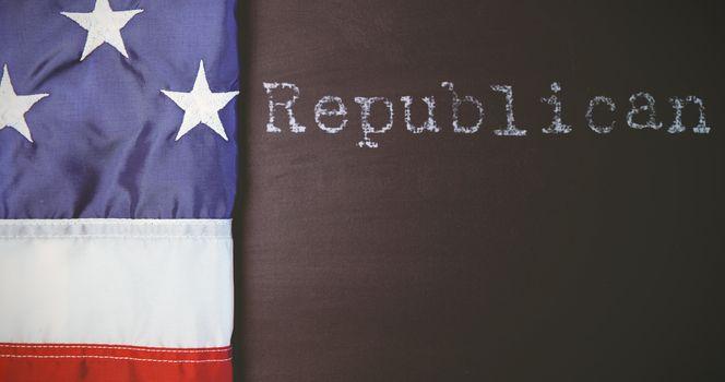Composite image of republican