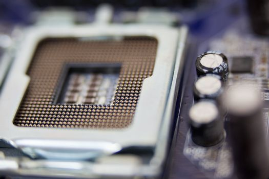 Close-up of a motherboard