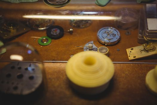 Clocks part on table
