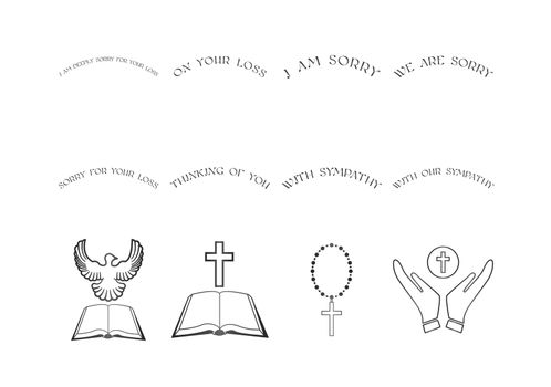 Vector set of christian religious icons