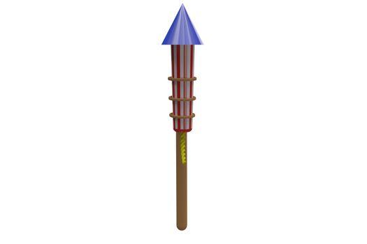 Rocket for fireworks