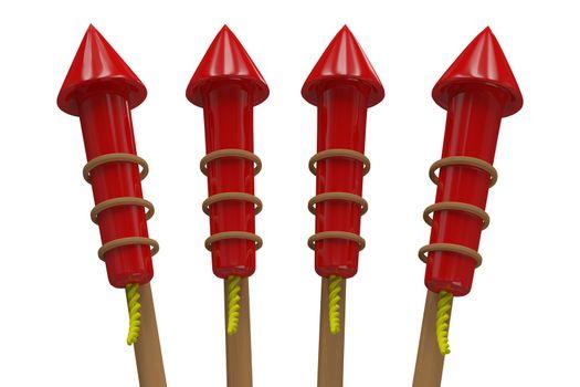Rockets for fireworks